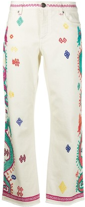 Etro Embroidered Design Jeans