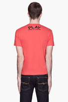 Comme des Garcons Red Black Logo T-Shirt