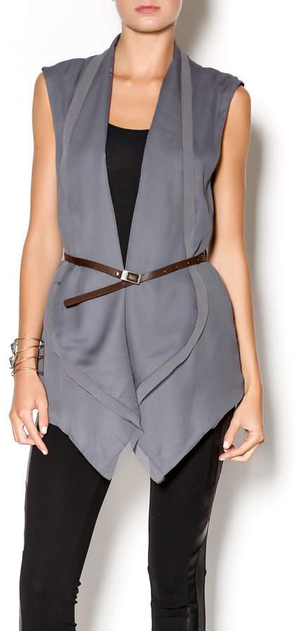 Double Zero Grey Chiffon Vest