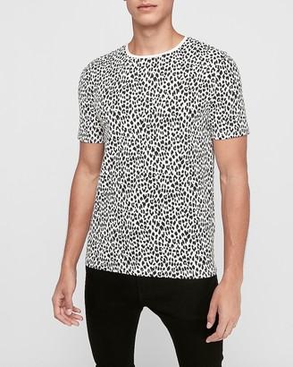 Express Leopard Print Moisture-Wicking Performance T-Shirt