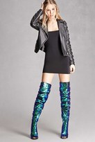 Forever 21 FOREVER 21+ Thigh-High Sequin Boots