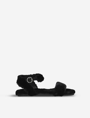 Kurt Geiger Smitten faux-fur sandals 3-7 years