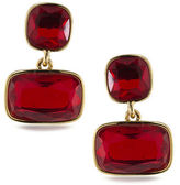 Lauren Ralph Lauren Lauren Treasure Trove Red and 12K Gold-Plated Double Drop Pierced Earrings