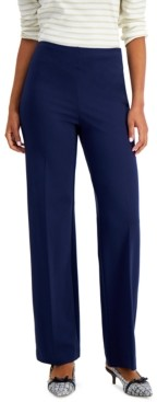 Charter Club Petite Ponte-Knit Pull-On Pants, Created for Macy's