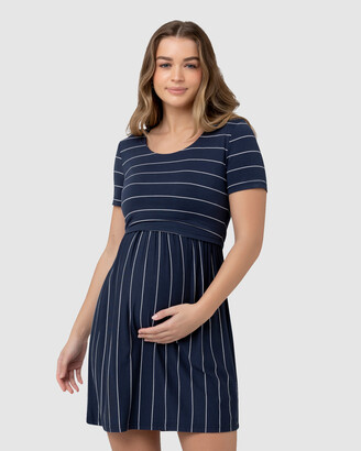 Ripe Maternity Women's Navy Mini Dresses - Crop Top Nursing Dress - Size One Size, XS at The Iconic