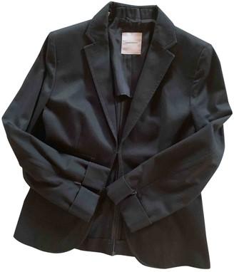 CNC Costume National Black Cotton Jacket for Women