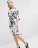 Weekday T-Shirt Dress With Swirl Print Detail