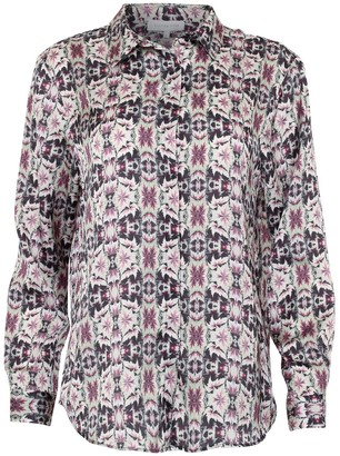 Silver Pink Dramatic Leaves Shirt