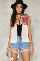 Nasty Gal nastygal Running Wild Embroidered Vest