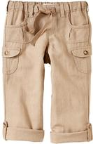 Old Navy Girls Roll-Up Linen-Blend Capris