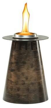 TIKI Brand Clean Burn Fire Pillar Metal Tabletop Torch TIKI Brand