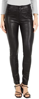 Paige Hoxton Leather Ultra Skinny (Black) Women's Casual Pants