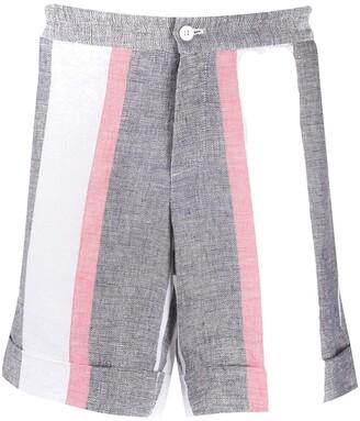 Casablanca Striped Linen Blend Shorts