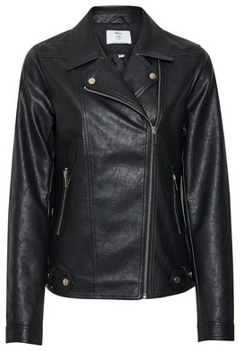 Dorothy Perkins Womens Dp Tall Black Pu Biker Jacket, Black