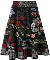 Alexander McQueen patterned A-line skirt