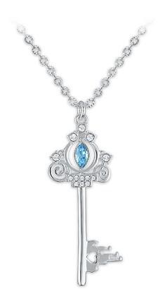 Disney Cinderella Swarovski Crystal Key Necklace