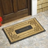 The Well Appointed House Personalized Coir Knot Rectangle Door Mat