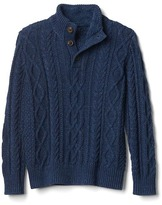 Gap Cable knit mock sweater