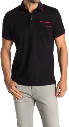 Roberto Cavalli Pipe Trim Patch Pocket Short Sleeve Polo