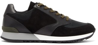 John Lobb Foundry Leather And Suede Trainers - Black