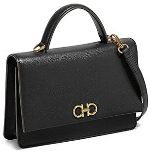 Salvatore Ferragamo Gancini Leather Top Handle Bag