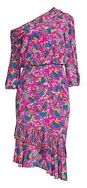 Saloni Women's Lexie Floral Silk Midi Dress