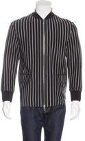 Rag & Bone Striped Two-Way Zip jacket