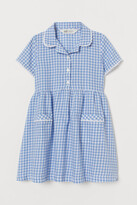 H&M Checked Cotton Dress - Blue
