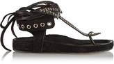 Isabel Marant Edris bow embellished suede sandals