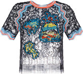 Peter Pilotto embroidered lace top - women - Polyamide/Viscose - 8