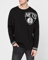 Express Brooklyn Nets Nba Long Sleeve Heavyweight T-Shirt