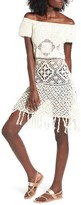 Somedays Lovin Women's Bay Breeze Crochet Off The Shoulder Tunic