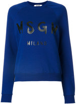 MSGM logo print sweatshirt - women - Cotton - XS