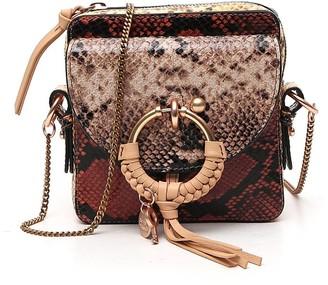 See by Chloe Snakeskin Effect Chain Strap Crossbody Bag