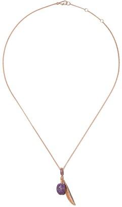 Annoushka 18kt rose gold Mythology amethyst and diamond olive seed pendant necklace