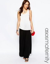Asos Maxi Skirt With Button Side
