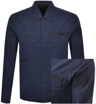 Boss Casual BOSS Lovel Zip Overshirt Jacket Navy