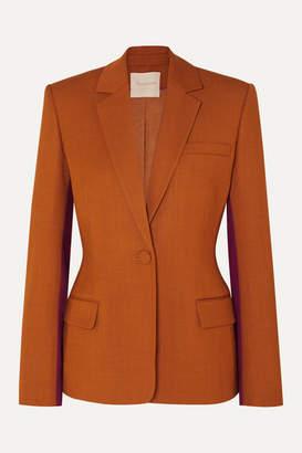 Roksanda Loa Two-tone Twill Blazer - Orange