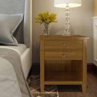 Three Posts Gateshead 2 - Drawer Solid Wood Nightstand Color: Light Golden Brown