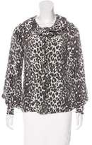 Kate Spade Silk Leopard Print Blouse