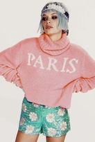 Wildfox Couture Paris is Home Seattle Sweater in Neon Sign
