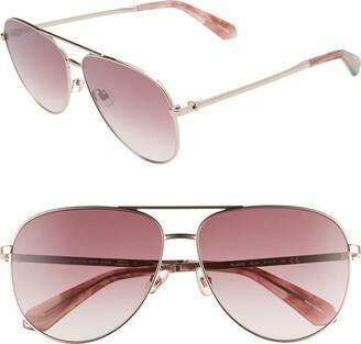 Kate Spade Isla 61mm Aviator Sunglasses