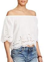 Polo Ralph Lauren Off-the-Shoulder Cotton Top