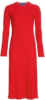 Rib by Simon Miller Wells Ribbed Long Sleeve Dress