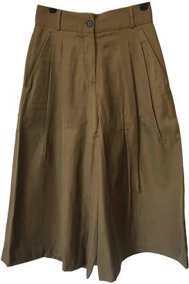 Margaret Howell Khaki Viscose Trousers
