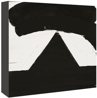 American Flat Americanflat Black And White Abstract 6 By Kasi Minami Canvas Artwork