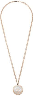 Chopard 18kt rose & white gold Happy Spirit diamond pendant necklace