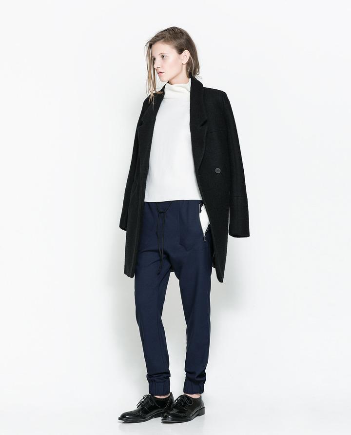 Zara Trousers With Elasticated Waist