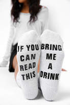 PJ Salvage If You Can Read This Drink Socks