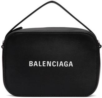 Balenciaga Black Logo Messenger Bag